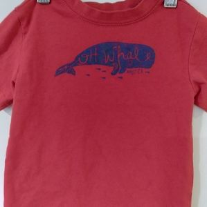 Nautica, Oh Whale! Red with navy whale graphic tee